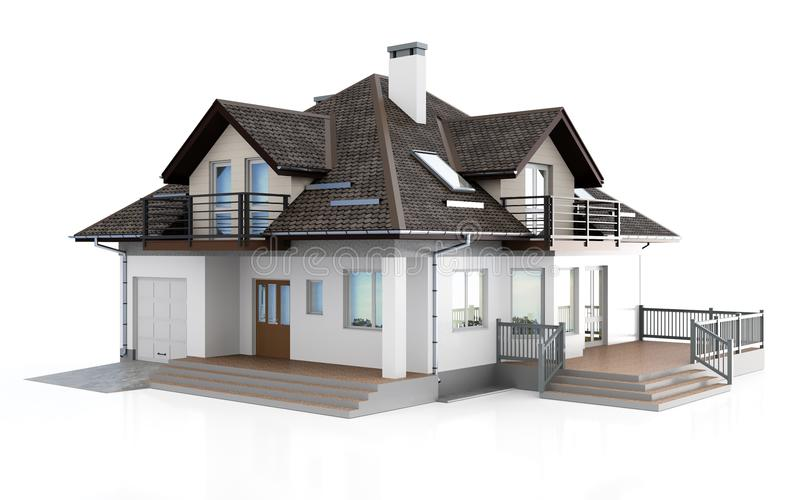 casa moderna 3d royalty illustrazione gratis
