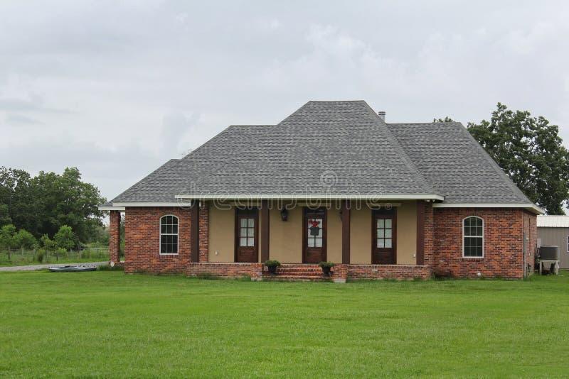Casa moderna de Luisiana imágenes de archivo libres de regalías