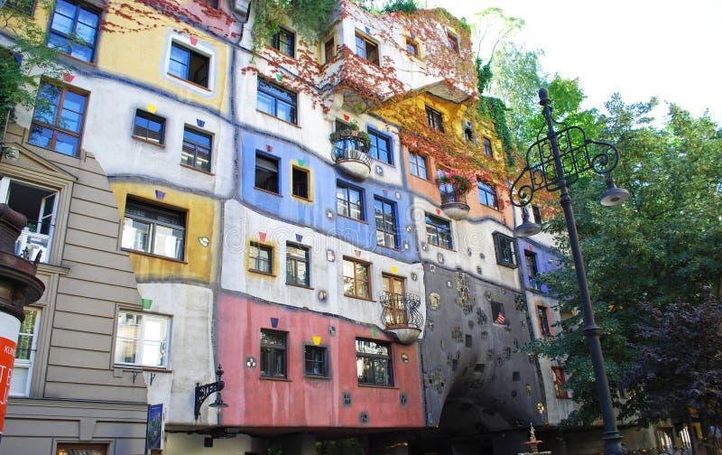 Casa moderna del estilo en Viena, Austria imagen de archivo