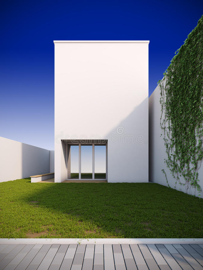 Casa moderna en estilo minimalista. libre illustration