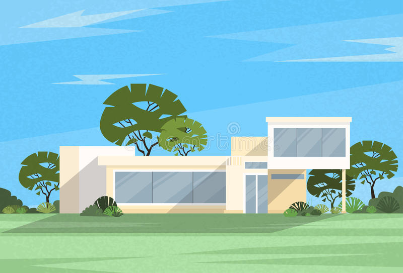 Casa moderna grande del chalet de Real Estate libre illustration