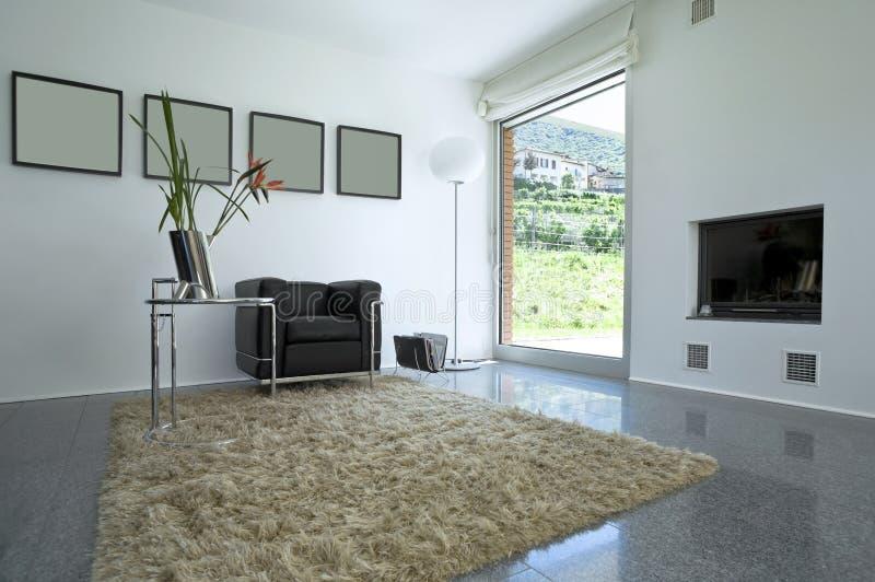 casa moderna interior do tijolo foto de stock royalty free