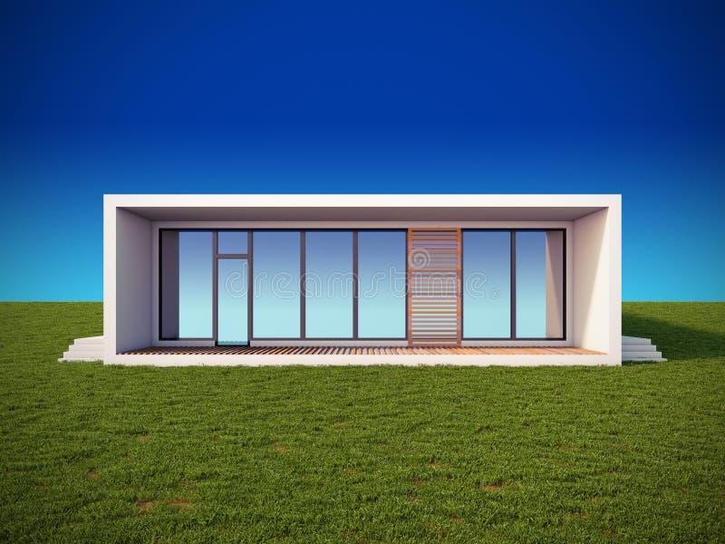 Casa moderna nello stile minimalista illustrazione di for Casa stile minimalista