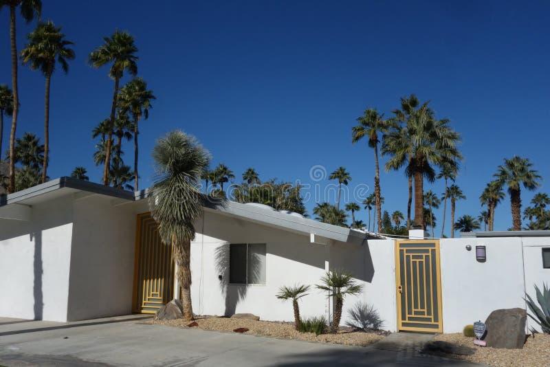 Casa moderna a Palm Springs immagini stock libere da diritti