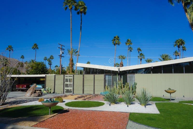 Casa moderna a Palm Springs fotografia stock