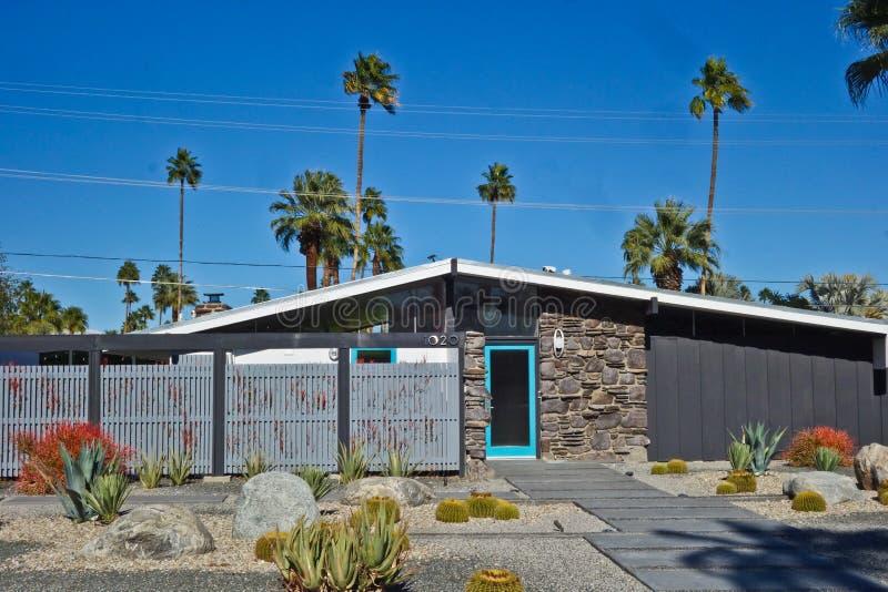 Casa moderna a Palm Springs immagine stock