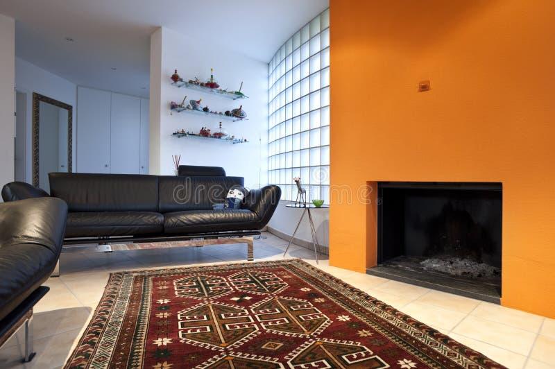 Casa moderna, sala de estar imagen de archivo libre de regalías