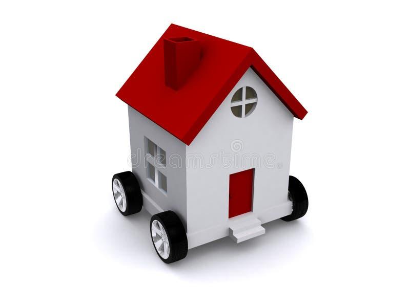 Casa moderna sulle rotelle illustrazione di stock