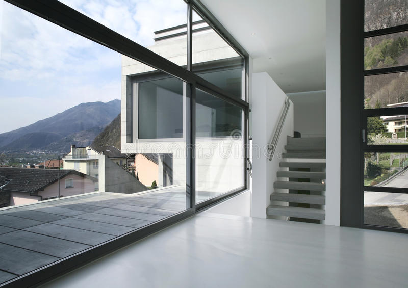 Casa moderna vazia fotografia de stock