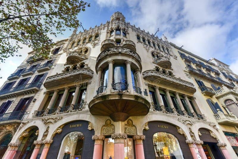 Casa Mulleras - Barcelona, Espanha imagens de stock