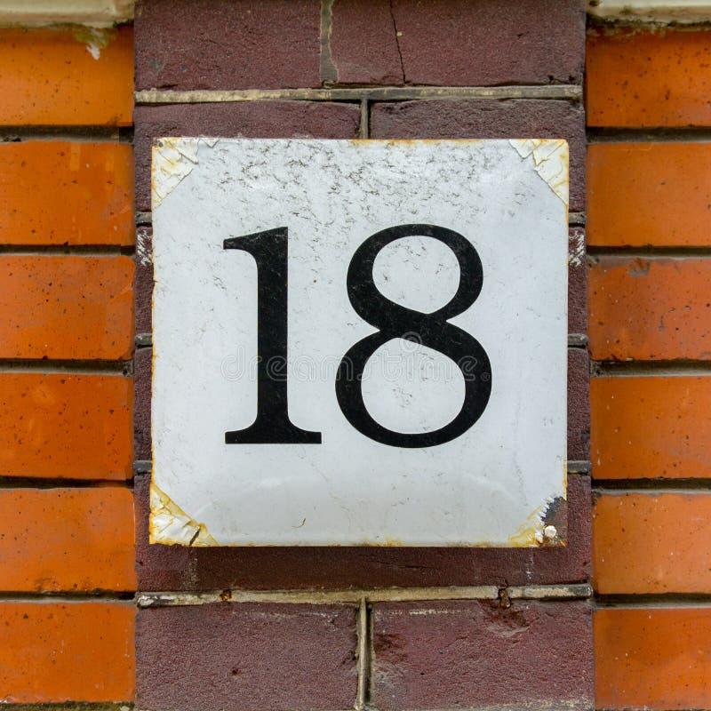 Casa número 18 foto de archivo libre de regalías