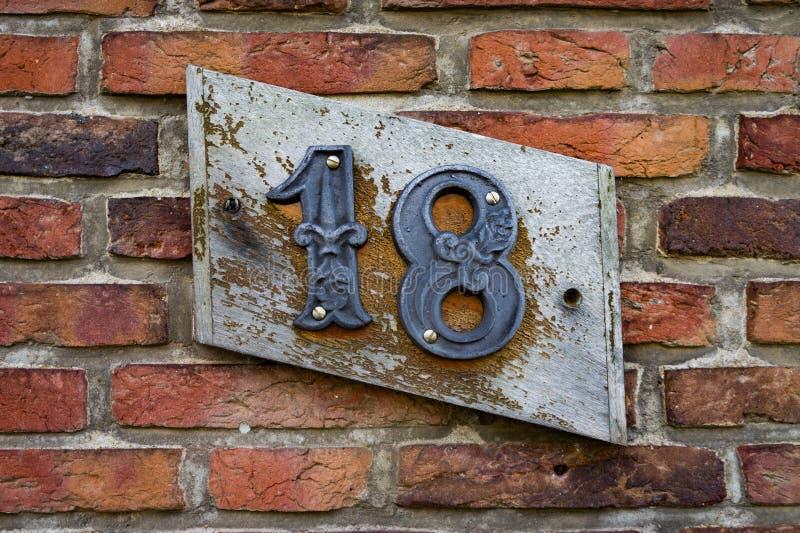 Casa número 18 imagen de archivo libre de regalías