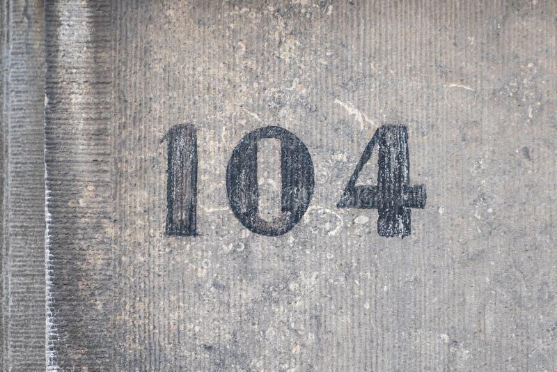 Casa número 104 imágenes de archivo libres de regalías