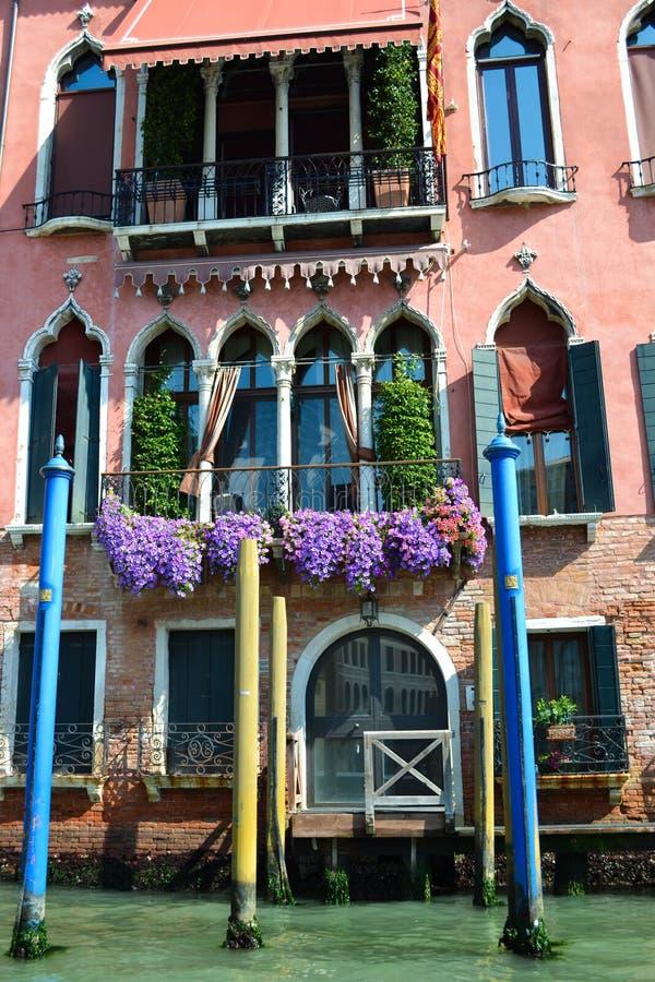 Casa na água, Veneza, Itália foto de stock