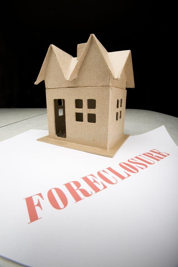 Casa na execução duma hipoteca imagem de stock