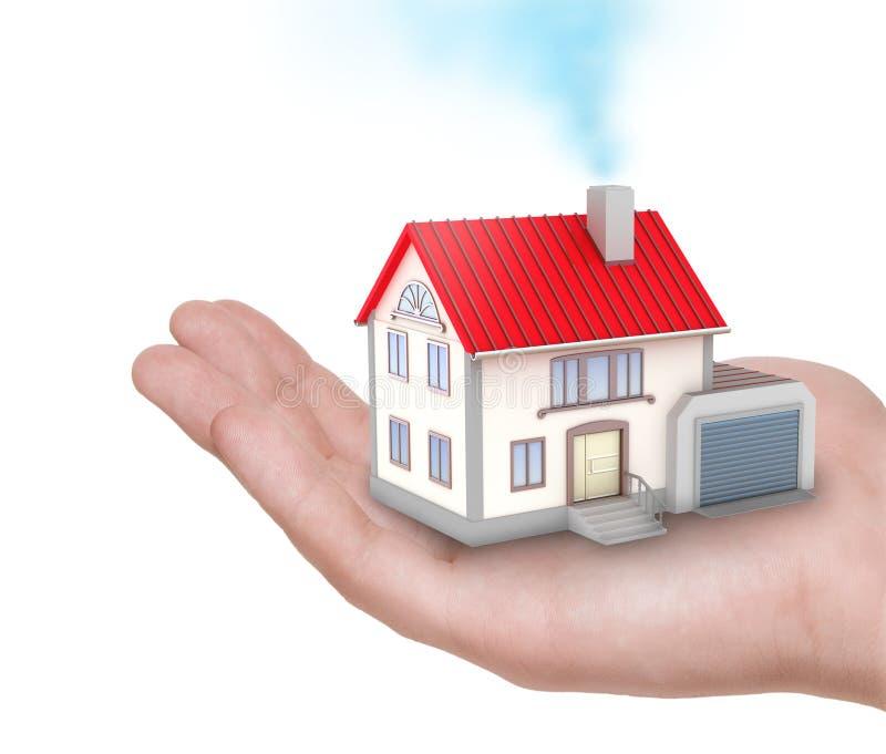 Download A casa na mão humana ilustração stock. Ilustração de apresentação - 16858800