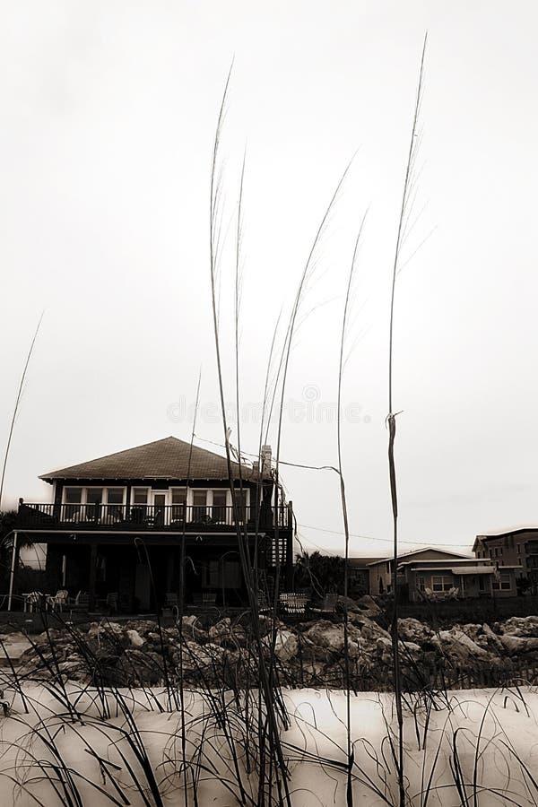 Download Casa na praia foto de stock. Imagem de home, tropical, areia - 101038