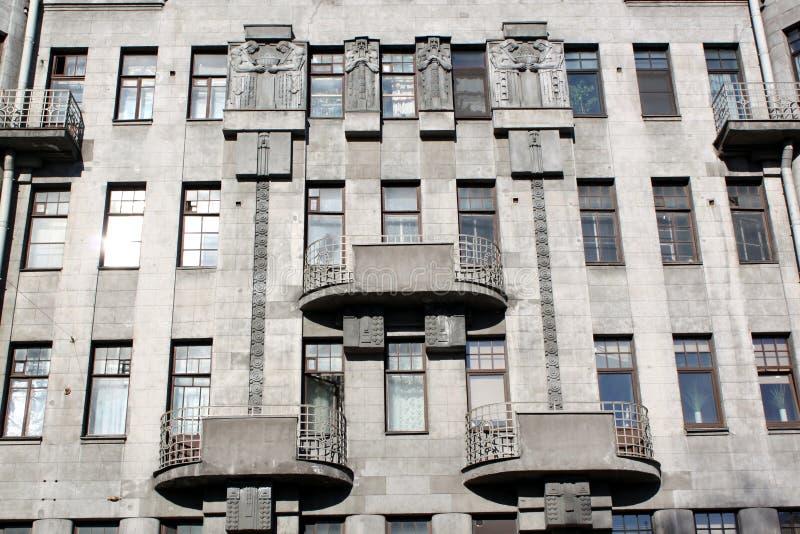 Casa na rua Nekrasova em St Petersburg imagens de stock royalty free