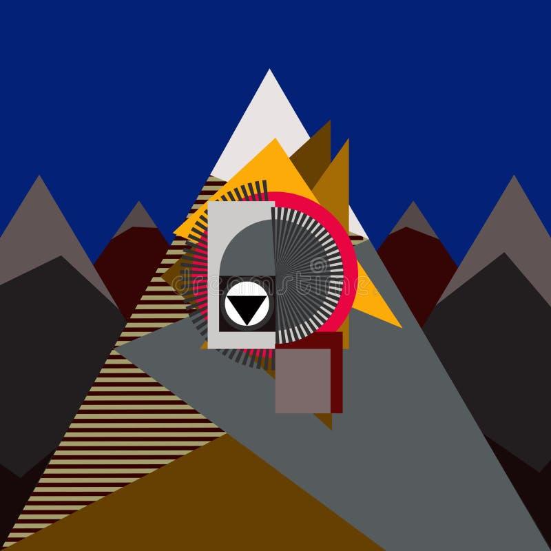 Casa nas montanhas ilustração stock