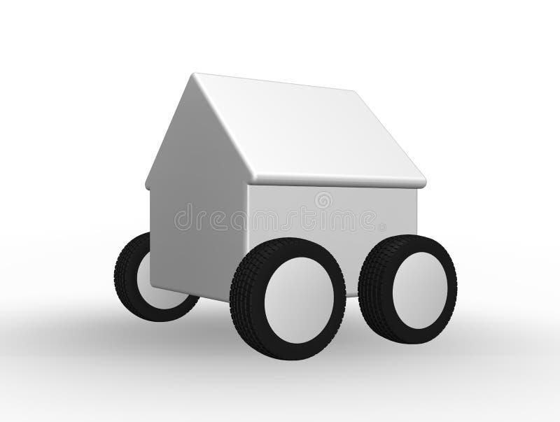 Casa nas rodas ilustração do vetor