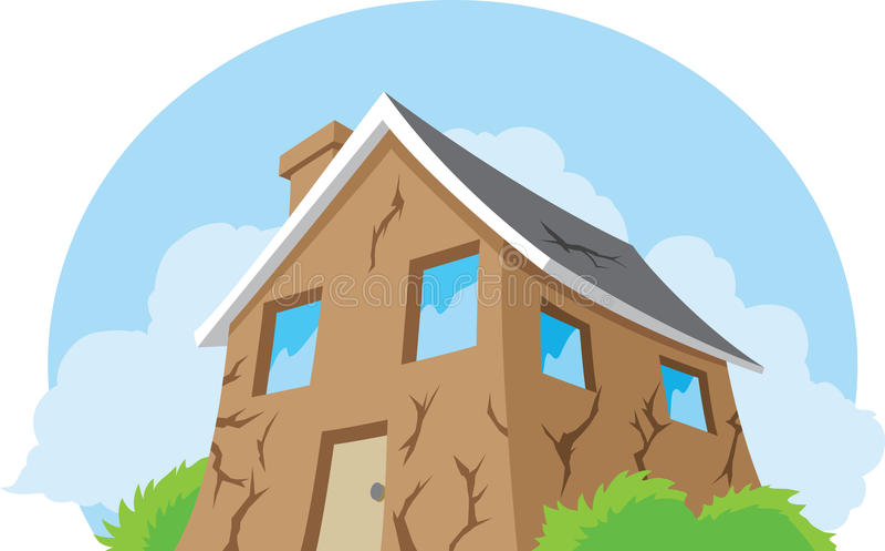 Casa necesitando la reparación stock de ilustración