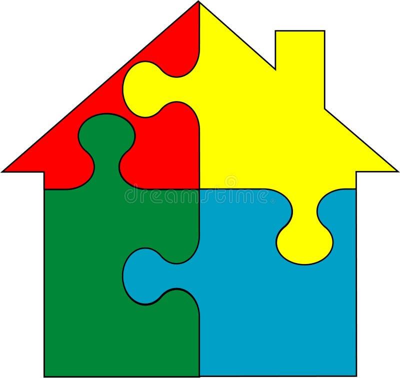 Casa nel puzzle -   royalty illustrazione gratis