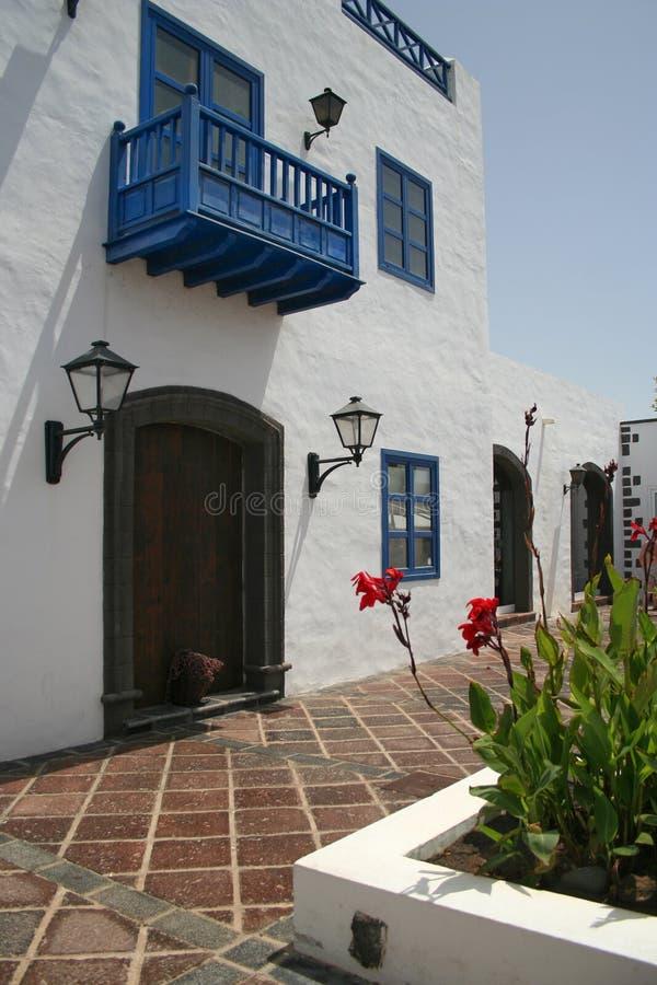 Casa no console de Lanzarote ilustração royalty free