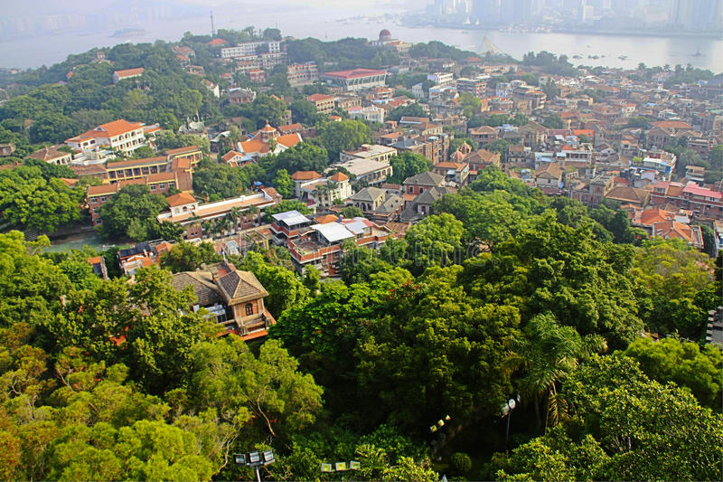 Download Casa No Console Do Gulangyu, Xiamen Foto de Stock - Imagem de azul, oriente: 26518342