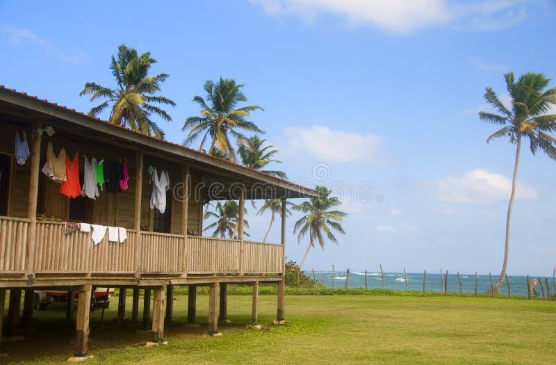 Casa no console Nicarágua do milho do mar do Cararibe imagem de stock