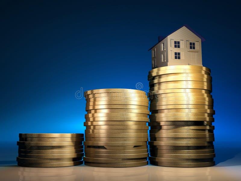 Casa no dinheiro ilustração do vetor