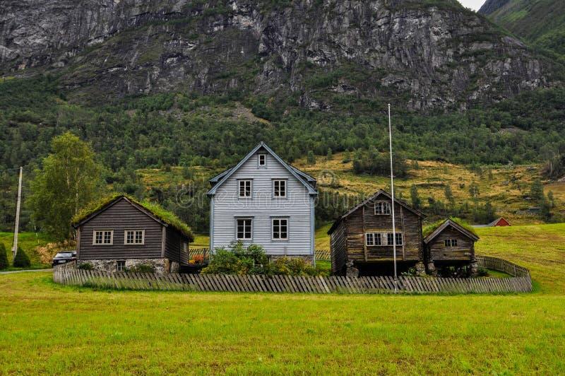 Casa norueguesa. imagens de stock royalty free