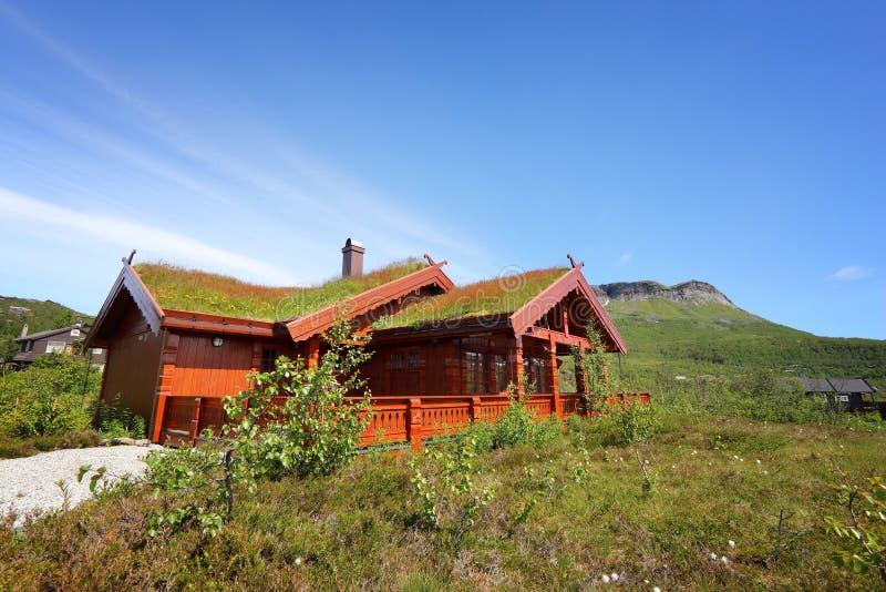 Casa norueguesa tradicional fotografia de stock
