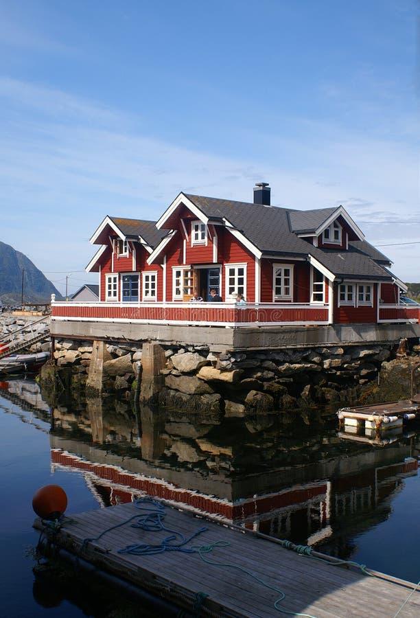 Casa norvegese immagine stock