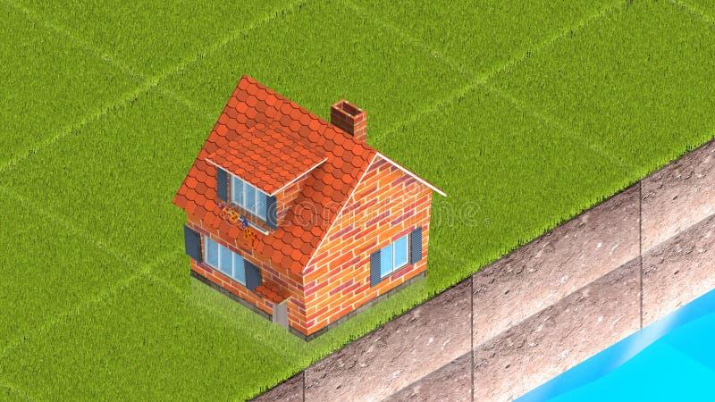 Casa nova ilustração stock