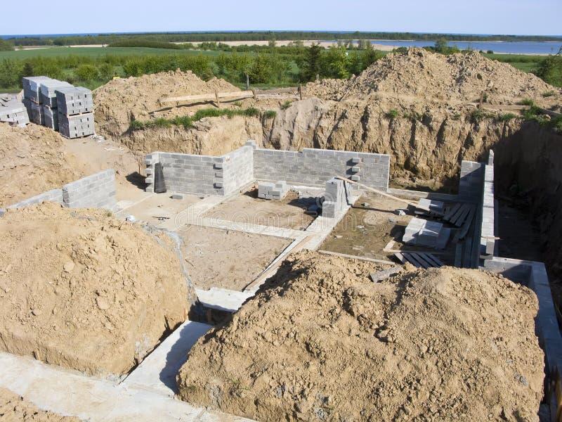 Casa nova de construção foto de stock