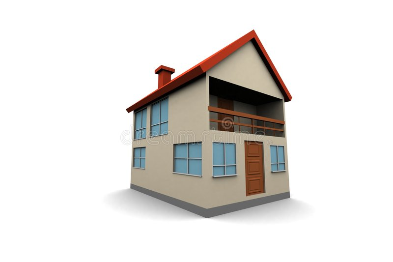 Casa nova isolada ilustração stock