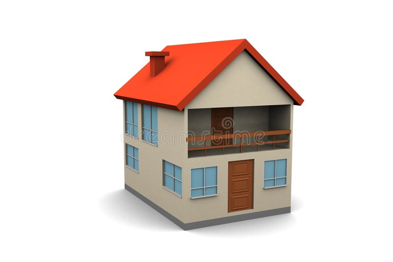 Casa nova isolada ilustração do vetor