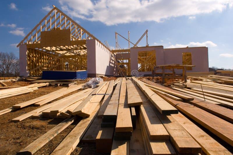 Casa nova sob a construção fotos de stock