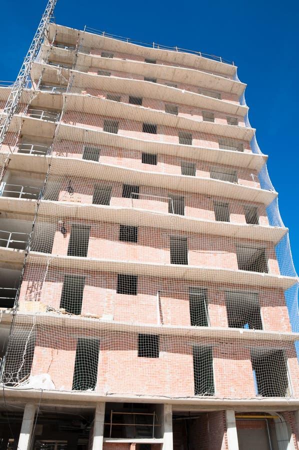 Casa nova sob a construção, Espanha imagem de stock