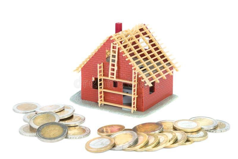 Hipoteca para a casa nova fotografia de stock