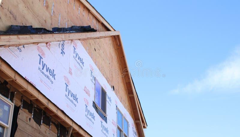 Casa nova sob a construção, Long Island, New York imagens de stock