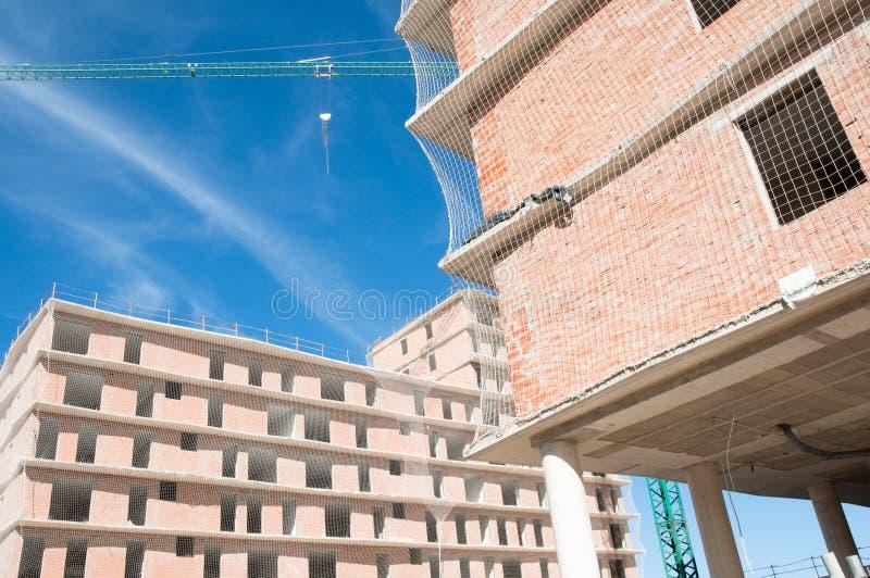 Casa nova sob a construção, Spain fotos de stock royalty free