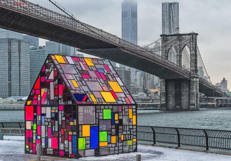 Casa NYC do vitral fotos de stock royalty free