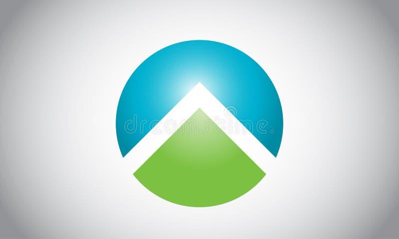 Casa o diseño del logotipo y del icono del estado imagen de archivo