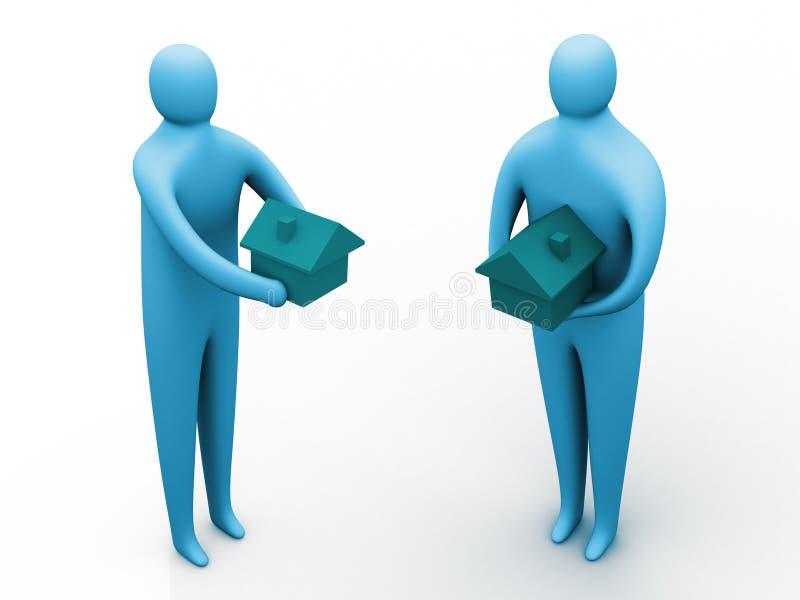 Download Casa oferecida ilustração stock. Ilustração de organização - 105803