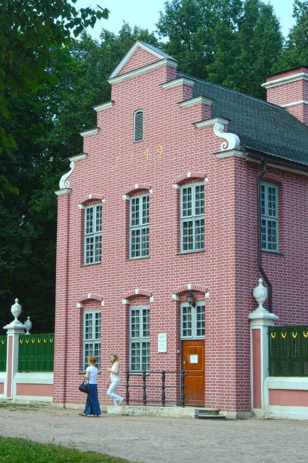 Casa olandese August Heat della proprietà di Kuskovo dell'insieme della Russia immagine stock libera da diritti