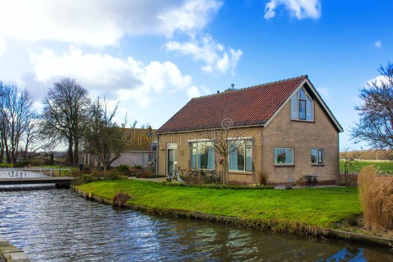 Casa olandese dell'agricoltore fotografia stock