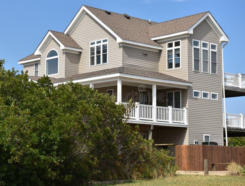 Casa oriental do oceanfront da costa de Virginia Beach imagens de stock royalty free
