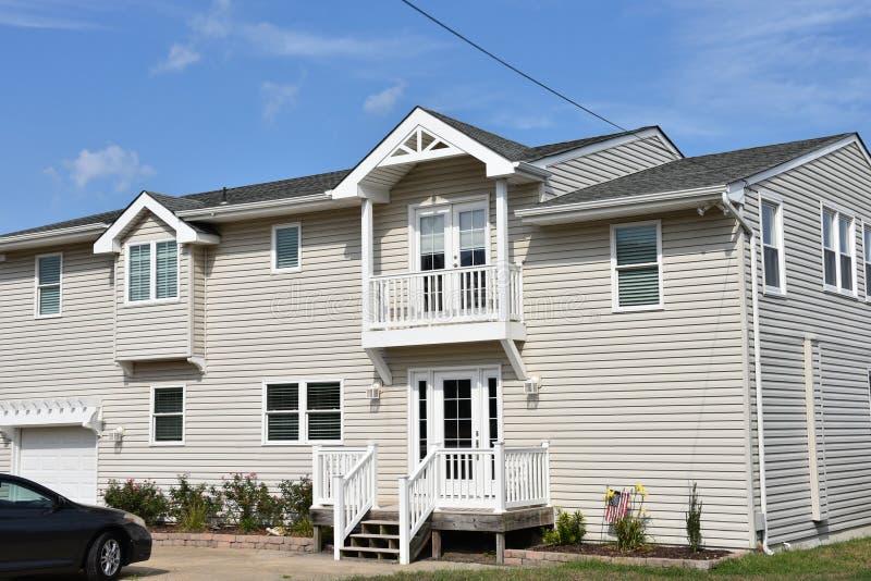 Casa oriental do oceanfront da costa de Virginia Beach foto de stock