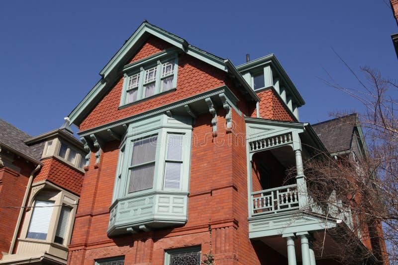 Casa ornamentado do Victorian fotos de stock